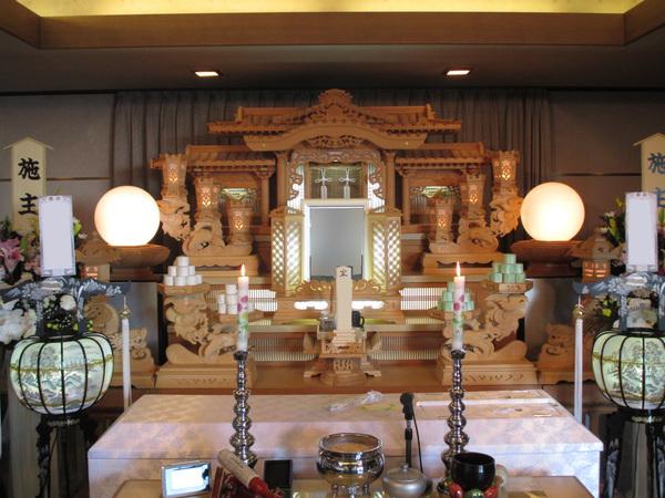 家族葬 夢渓(5階)白木祭壇プランの画像