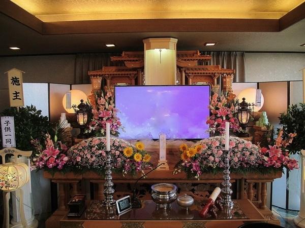 一般葬 夢渓(5階)生花組込プラン 友人葬の画像